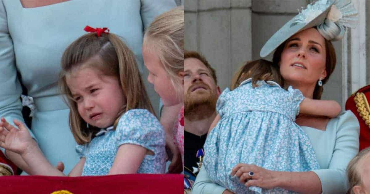 A duquesa Kate Middleton consolou rapidamente a princesa Charlotte