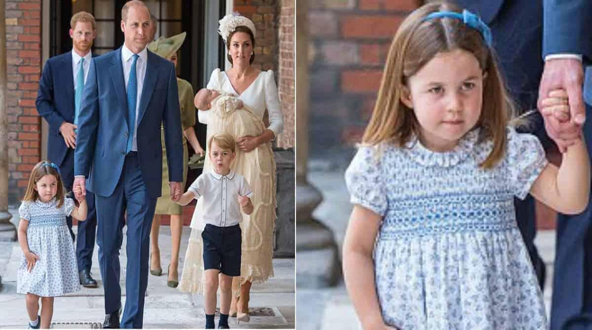 Veja o que a princesa Charlotte falou para a imprensa
