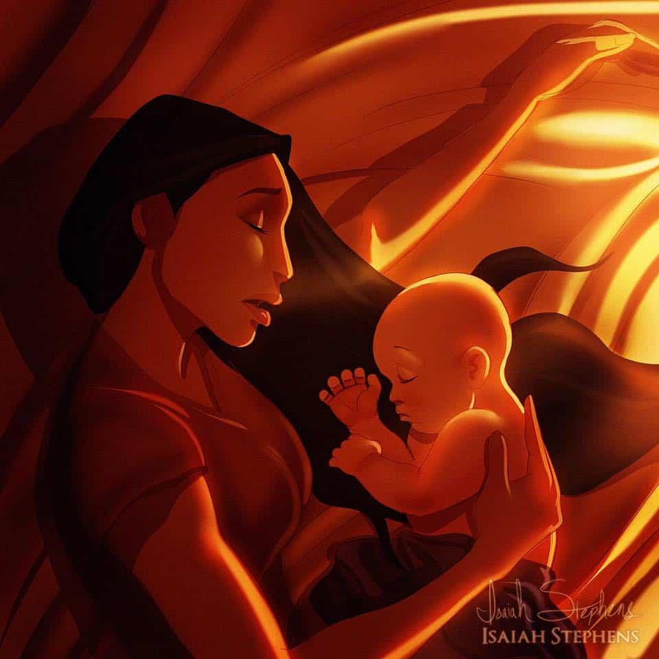 Já parou para pensar em como seriam as princesas da Disney como mamães?