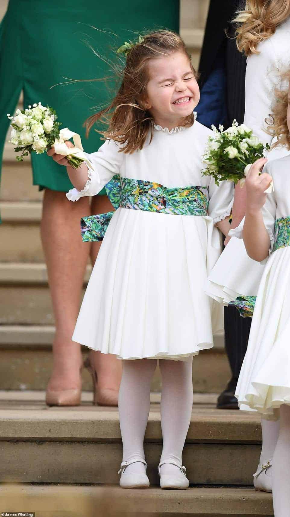 A princesa Charlotte deu um toque de fofura no casamento real