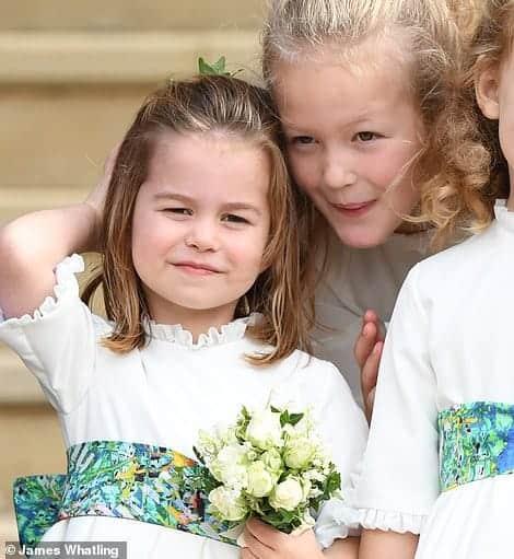 Mais uma publicação da princesa Charlotte durante o casamento real
