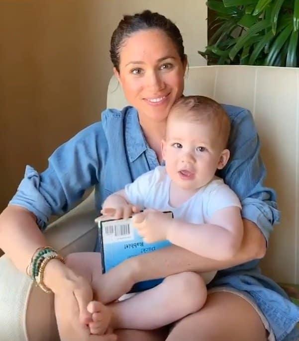 A duquesa Meghan Markle com Archie