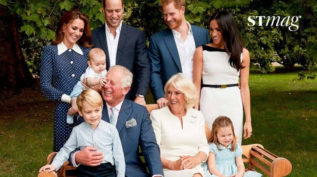 O pequeno príncipe Louis brincando com o vovô príncipe Charles