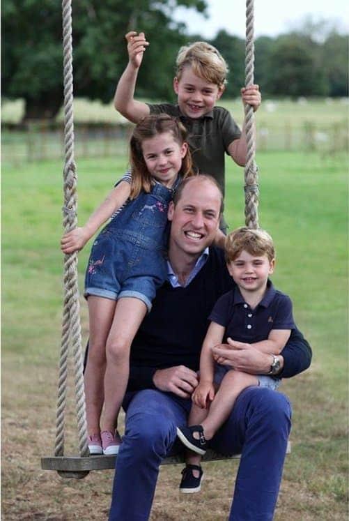 Kate Middleton fez esta foto do príncipe William com os filhos