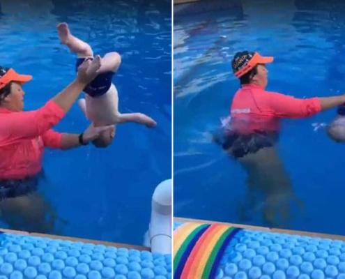 O vídeo da professora de natação gerou controversas