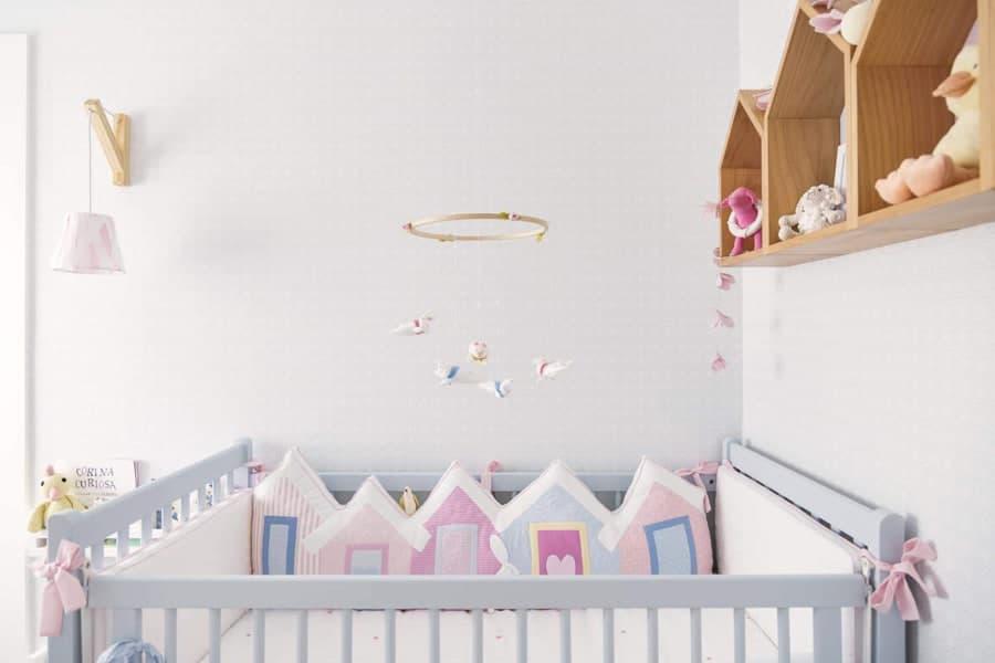 Quarto de bebê com linda temática fofa