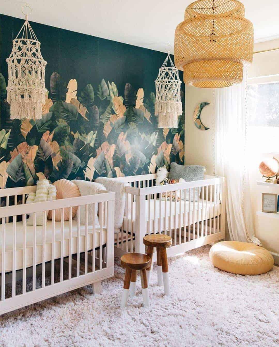 Lindo quarto de bebê para gêmeos