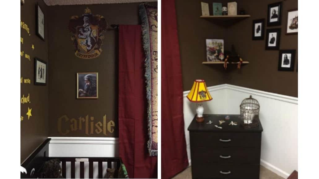 Olha que graça estes detalhes do quarto de bebê com o tema Harry Potter