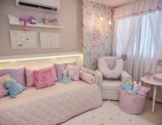 Lindo quarto da Liz, filha de Juliana Didone e Flávio Rossi