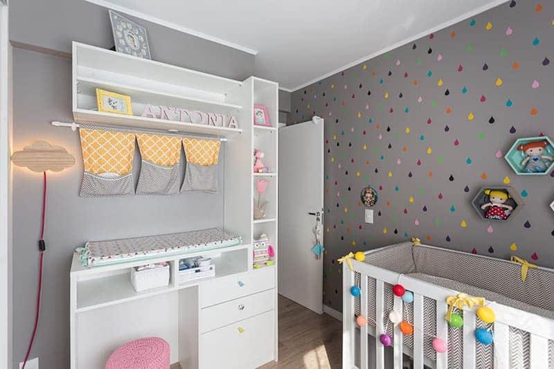 Outro exemplo de quarto de bebê fofo para meninas