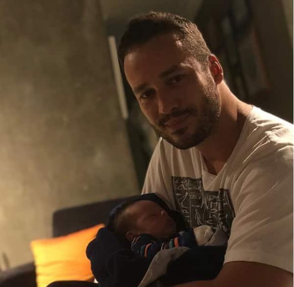 Valentim ter o ator Rodrigo Andrade como padrinho