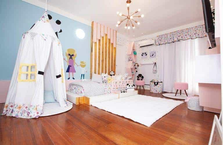 Após a reforma ficou assim o quarto da menina Aurora