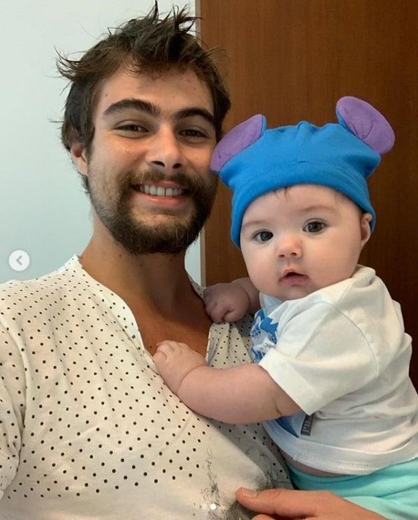 Rafael Vitti e sua fofa bebê Clara Maria