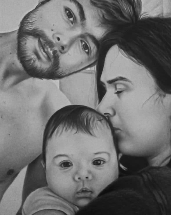 Tatá Werneck e Rafael Vitti com sua bebê