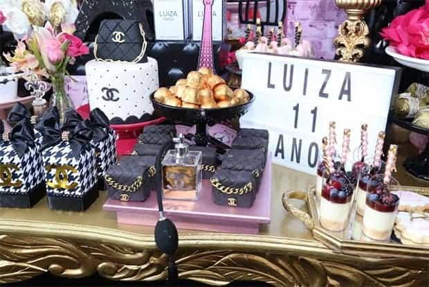 Veja um pouco dos detalhes da festa de aniversário de Luiza