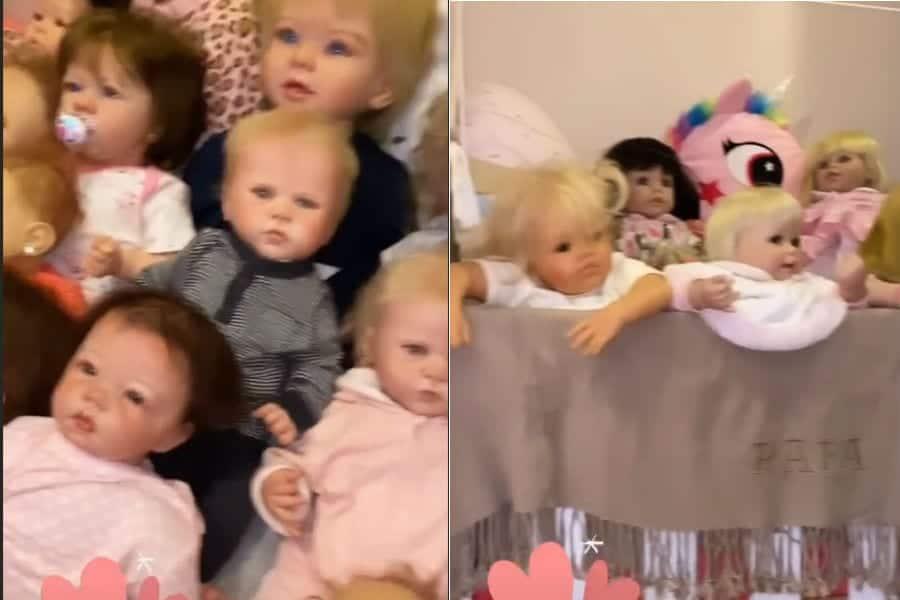 Bonecas reborn da pequena Rafaella Justus