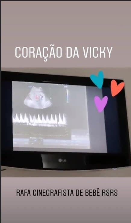 Rafaella Justus filmou o ultrassom da irmãzinha