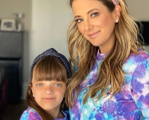 Rafaella Justus posou com sua irmã bebê