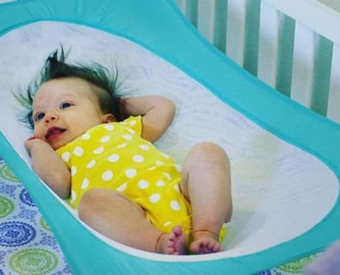 Os bebês sentem algo semelhante ao que sentiam no útero, quando estão na rede