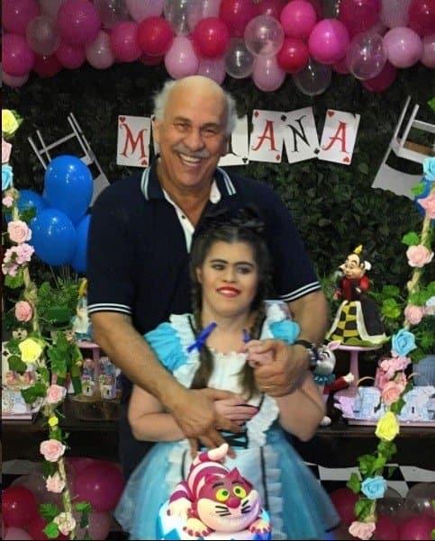 Canuto na festa de sua filha Mariana