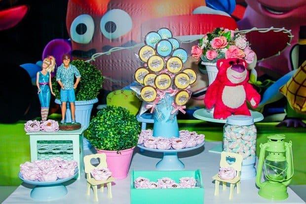 O tema escolhido para a festa foi Toy Story