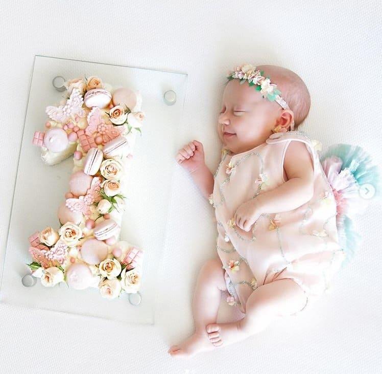Mêsversário da bebê de Roberto Justus e Ana Paula Siebert
