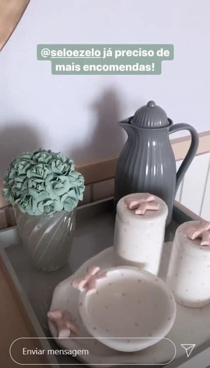Detalhes da decoração do quarto da bebê de Roberto Justus