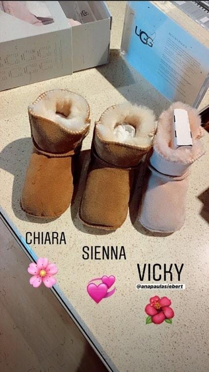 Esposa de Roberto Justus mostrou botas que comprou pra sua bebê