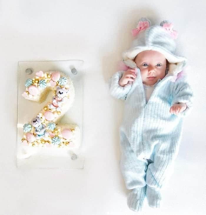 Bebê de Roberto Justus na festa de mêsversário