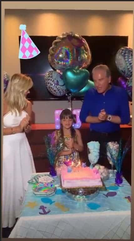 Roberto Justus comemorando o aniversário da filha Rafinha