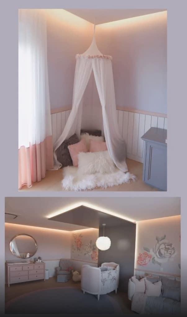Detalhes do quarto da filha de Roberto Justus
