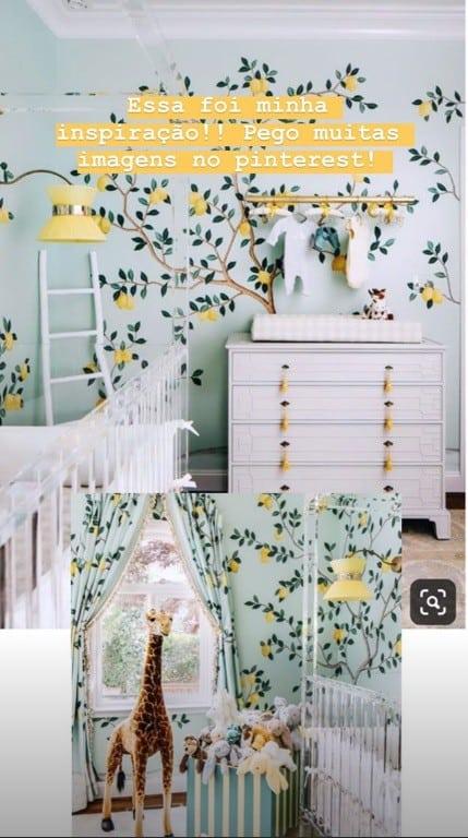 Inspiração de Ana Paula Siebert para o quarto da filha com Roberto Justus