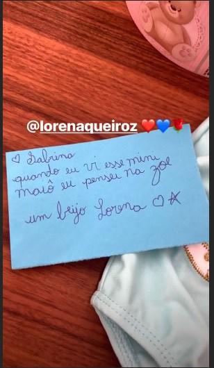 Imagem da carta que Lorena Queiroz de Carinha de Anjo encaminho para Sabrina Sato