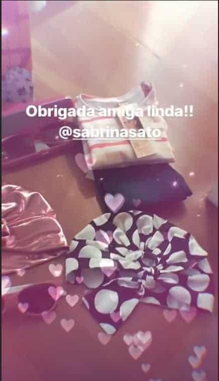Sabrina Sato deu estes lindos presentes para a filha de Eliana