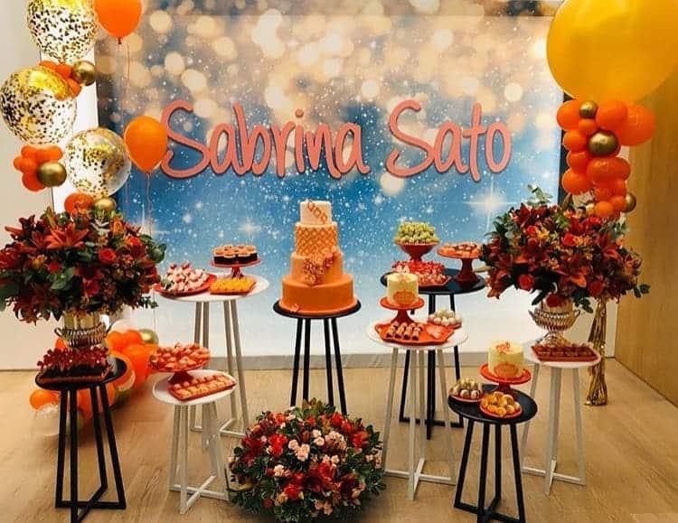 Detalhe também da festa de 38 anos da apresentadora Sabrina Sato