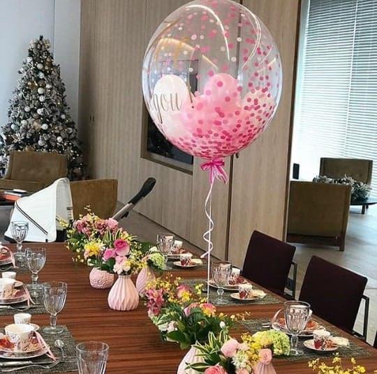 Detalhes da recepção para a Zoe, filha de Sabrina Sato
