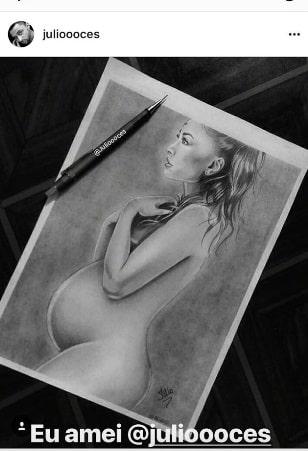 Sabrina Sato grávida na versão desenho