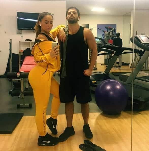 Sabrina Sato e Duda Nagle no treino
