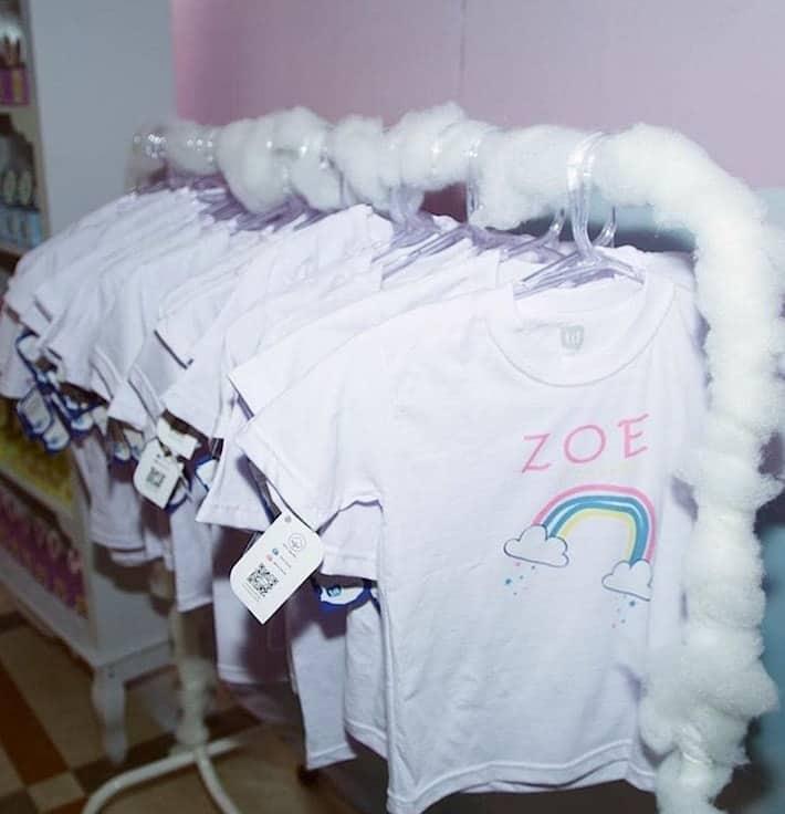 Lojinha da festa de Zoe encantou