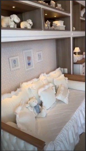 Na casa de praia da família Safadão esse é o quarto do bebê Dom