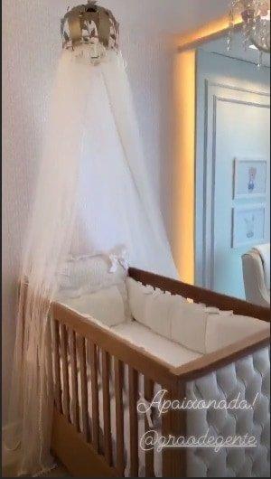Na casa de praia do cantor Wesley Safadão esse é o quarto do bebê Dom
