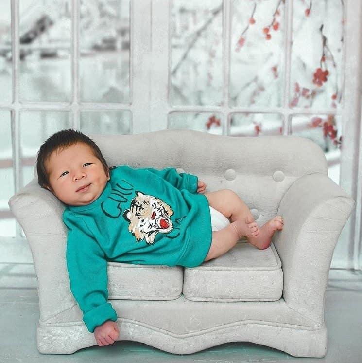Ensaio newborn do filho de Sammy e Pyong Lee