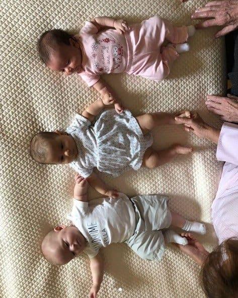 Os três netinhos do vovô Silvio Santos: Jane, Lucas e Nina