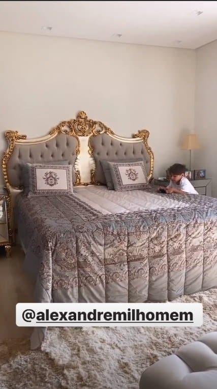 O quarto do filho de cinco anos de Simone
