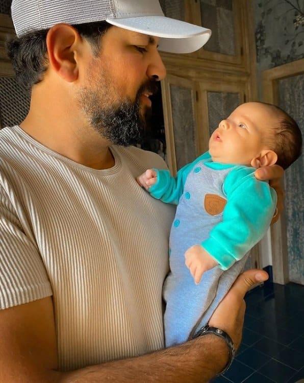 Sorocaba com seu bebê Théo