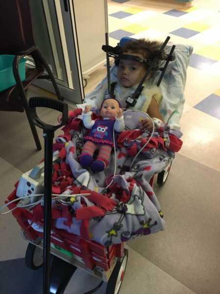 Aniyah se recuperando do acidente