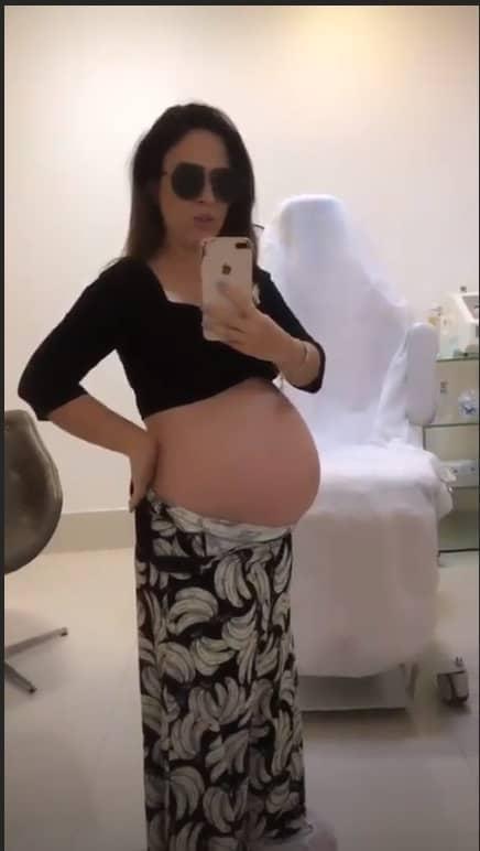Tatá Werneck exibiu barrigão de grávida