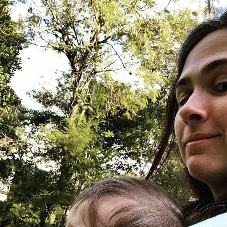 Tatá Werneck e a filha de oito meses, Clara Maria