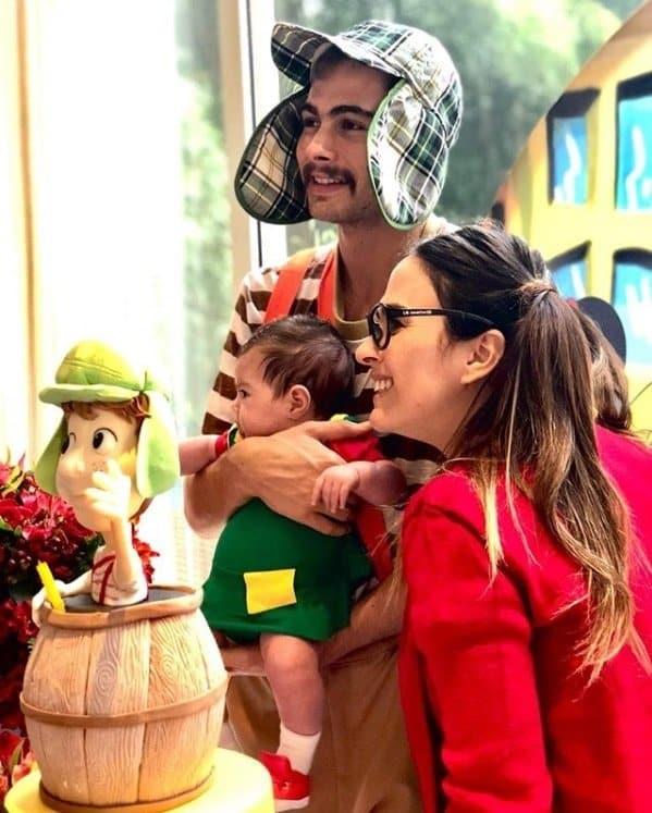 Rafael Vitti e Tatá Werneck com a fofa Clara Maria