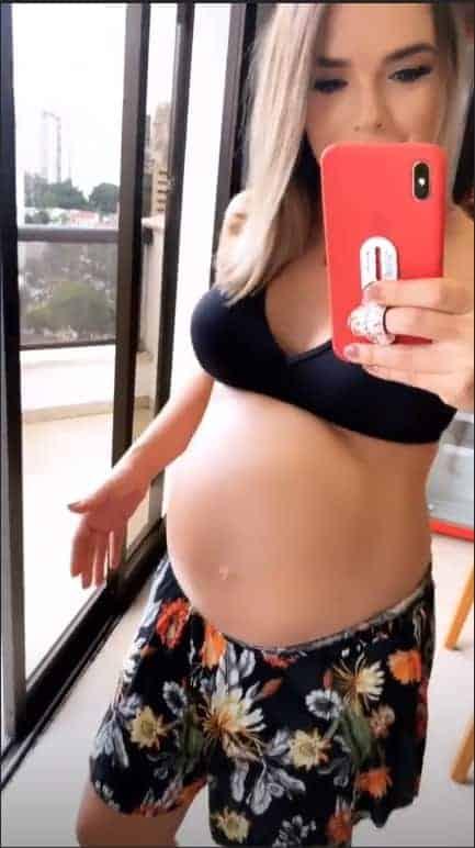 A própria mamãe ficou surpresa com o tamanho da barriga